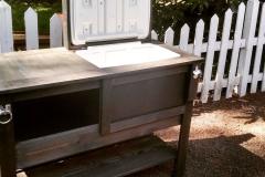 Custom Outdoor Cooler Table
