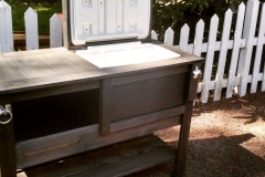 Custom Outdoor Cooler Table