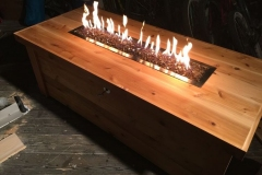 Outdoor Cedar Fire table